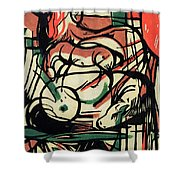The Birth of the Horse Shower Curtain by Franz Marc
