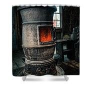 The Blacksmiths Furnace - Industrial Shower Curtain by Gary Heller