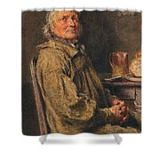 The Blessing Shower Curtain by William Henry Hunt