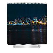 The Blue Monster Shower Curtain by James Heckt