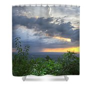The Blue Ridge Mountains Shower Curtain by Debra and Dave Vanderlaan