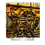 The Boeing Model 100 P-12 F4b Shower Curtain by David Patterson