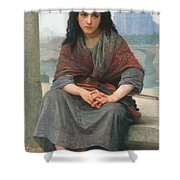 The Bohemian Shower Curtain by William Adolphe Bouguereau