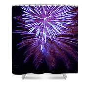 The Bombs Bursting In Air Shower Curtain by Robert ONeil