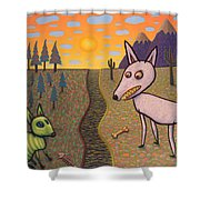 The Border Shower Curtain by James W Johnson