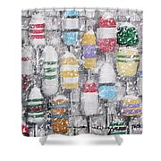 The Bouys were hung on the shack with care Shower Curtain by Jack Skinner