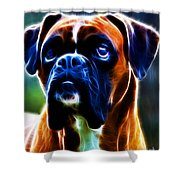 The Boxer - Electric Shower Curtain by Wingsdomain Art and Photography