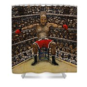 The Boxer Shower Curtain by Richard Wandell
