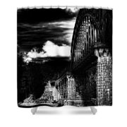 The Bridge Shower Curtain by Erik Brede