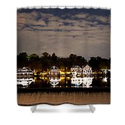 The Bright Lights Of Boathouse Row Shower Curtain by Bill Cannon