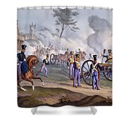 The British Royal Horse Artillery - Shower Curtain by English School