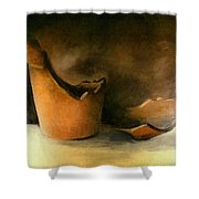 The Broken Terracotta Pot Shower Curtain by Michelle Calkins