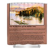The Buffalo Heard  Shower Curtain by Charles Russell