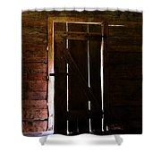 The Cabin Door Shower Curtain by David Lee Thompson