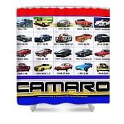 The Camaro Poster Shower Curtain by Jack Pumphrey