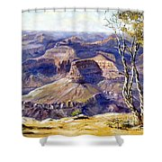 The Canyon Shower Curtain by Lee Piper
