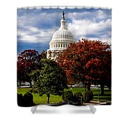 The Capitol Shower Curtain by Greg Fortier