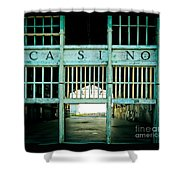 The Casino Shower Curtain by Colleen Kammerer