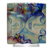 The Celestial Consonance Shower Curtain by Dorina  Costras