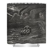 The Child Moses On The Nile Shower Curtain by Gustave Dore
