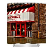 The Chocolate Factory Shower Curtain by David Patterson