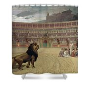 The Christian Martyrs Last Prayer Shower Curtain by Jean Leon Gerome