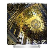 The Church Of Our Savior On Spilled Blood 2 - St. Petersburg - Russia Shower Curtain by Madeline Ellis