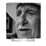 The Cigar Maker Shower Curtain by Rene Triay Photography