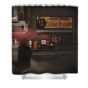 The Color Purple Shower Curtain by Linda Unger
