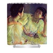 The Conversation Shower Curtain by Mary Stevenson Cassatt