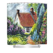 The Cottage Garden Path Shower Curtain by Carol Wisniewski