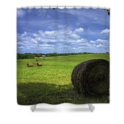 The Country House Hayfield Shower Curtain by Reid Callaway
