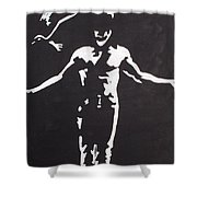 The Crow Shower Curtain by Marisela Mungia