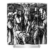 The Crucifixion Shower Curtain by Albrecht Durer