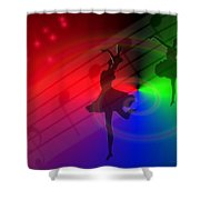 The Dance Shower Curtain by Joyce Dickens