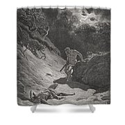 The Death Of Abel Shower Curtain by Gustave Dore