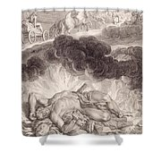 The Death Of Hercules Shower Curtain by Bernard Picart