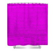 The Declaration Of Independence In Purple Shower Curtain by Rob Hans