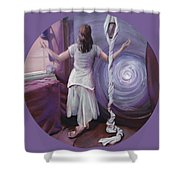 The Devotee Shower Curtain by Shelley Irish