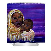 The Devotion Of A Mother's Love Shower Curtain by The Art With A Heart By Charlotte Phillips