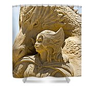 The Dragon And The Goddess Shower Curtain by Tom Gari Gallery-Three-Photography