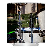 The Drum Set Shower Curtain by David Patterson