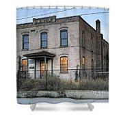 The Duquesne Building - Spokane Washington Shower Curtain by Daniel Hagerman