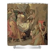 The Entombment of Christ Shower Curtain by Barocci
