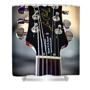 The Epiphone Les Paul Guitar Shower Curtain by David Patterson