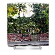 The Ernest Hemingway House - Key West Shower Curtain by Bill Cannon