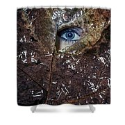 The Eye Shower Curtain by Joana Kruse
