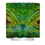 The Eyes Have It Shower Curtain by Julie Brugh Riffey