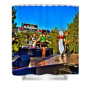 The Fabulous Kingpins Shower Curtain by David Patterson