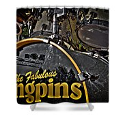 The Fabulous Kingpins Drums Shower Curtain by David Patterson